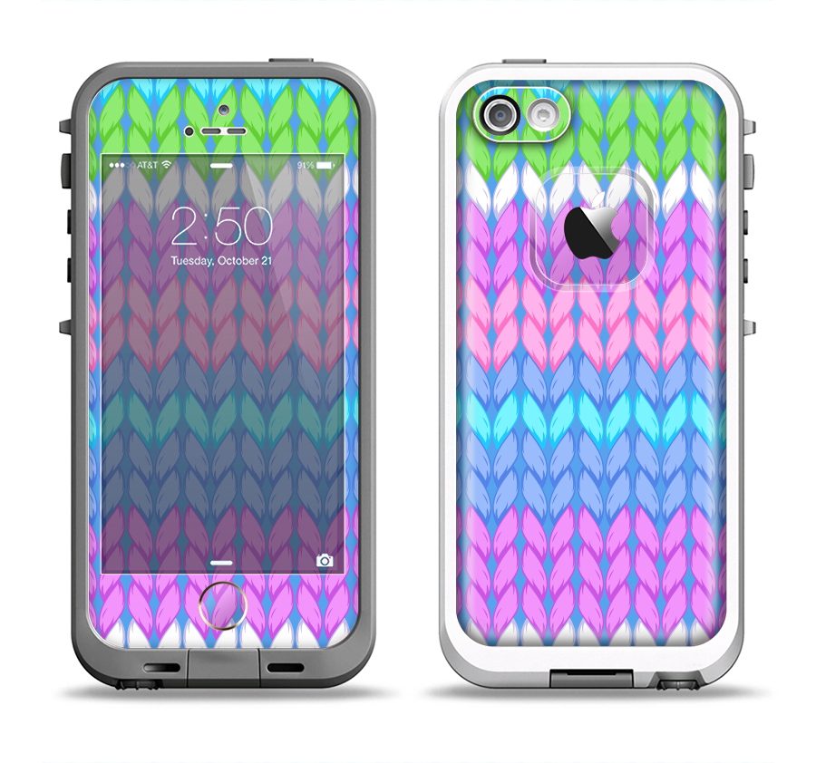The Bright-Colored Knit Pattern Apple iPhone 5-5s LifeProof Fre Case ...