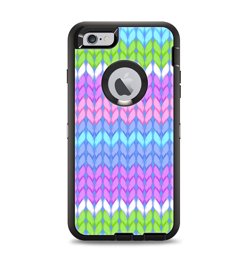 The Bright Colored Knit Pattern Apple Iphone 6 Plus Otterbox