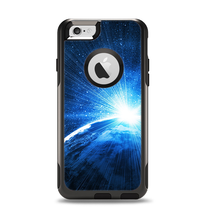 The Bright Blue Earth Light Flash Apple iPhone 6 Otterbox Commuter Case Skin Set