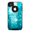 The Bright Blue Glistening Streaks Skin for the iPhone 4-4s OtterBox Commuter Case