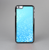 The Bright Blue Vector Spiral Pattern Skin-Sert Case for the Apple iPhone 6 Plus