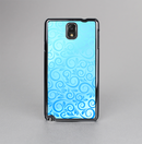 The Bright Blue Vector Spiral Pattern Skin-Sert Case for the Samsung Galaxy Note 3