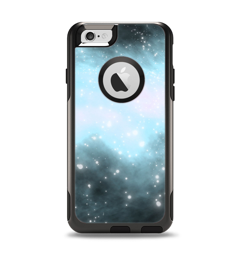The Bright Blue Vivid Galaxy Apple iPhone 6 Otterbox Commuter Case Skin Set