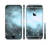 The Bright Blue Vivid Galaxy Sectioned Skin Series for the Apple iPhone 6 Plus