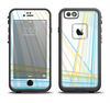 The Bright Blue and Yellow Lines Apple iPhone 6/6s LifeProof Fre Case Skin Set