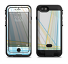 The Bright Blue and Yellow Lines Apple iPhone 6/6s LifeProof Fre POWER Case Skin Set