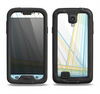 The Bright Blue and Yellow Lines Samsung Galaxy S4 LifeProof Fre Case Skin Set