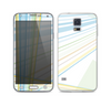 The Bright Blue and Yellow Lines Skin For the Samsung Galaxy S5