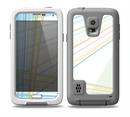 The Bright Blue and Yellow Lines Skin for the Samsung Galaxy S5 frē LifeProof Case