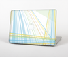 The Bright Blue and Yellow Lines Skin for the Apple MacBook Pro 13""