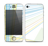 The Bright Blue and Yellow Lines Skin for the Apple iPhone 4-4s