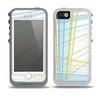 The Bright Blue and Yellow Lines Skin for the iPhone 5-5s OtterBox Preserver WaterProof Case
