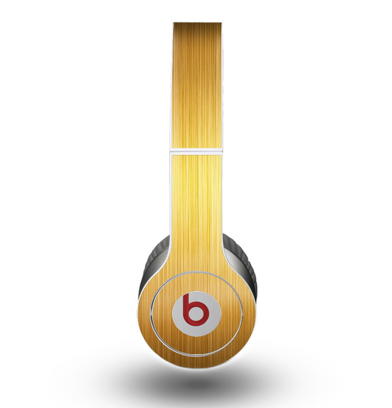 The Bright Brushed Gold Surface Skin for the Beats by Dre Original Solo-Solo HD Headphones