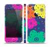 The Bright Colored Cartoon Flowers Skin Set for the Apple iPhone 5