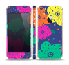 The Bright Colored Cartoon Flowers Skin Set for the Apple iPhone 5s