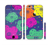 The Bright Colored Cartoon Flowers Sectioned Skin Series for the Apple iPhone 6
