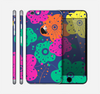 The Bright Colored Cartoon Flowers Skin for the Apple iPhone 6 Plus