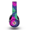 The Bright Colored Cartoon Flowers Skin for the Original Beats by Dre Studio Headphones