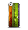 The Bright Colored Peeled Wood Planks Apple iPhone 5c Otterbox Symmetry Case Skin Set