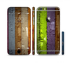 The Bright Colored Peeled Wood Planks Sectioned Skin Series for the Apple iPhone 6 Plus