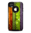 The Bright Colored Peeled Wood Planks Skin for the iPhone 4-4s OtterBox Commuter Case