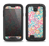 The Bright Colored Vector Spiral Pattern Samsung Galaxy S4 LifeProof Fre Case Skin Set