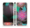 The Bright Colorful Flower Sprouts Skin Set for the Apple iPhone 5s