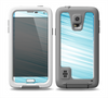 The Bright Diagonal Blue Streaks Skin for the Samsung Galaxy S5 frē LifeProof Case