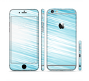The Bright Diagonal Blue Streaks Sectioned Skin Series for the Apple iPhone 6s