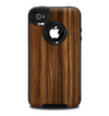 The Bright Ebony Woodgrain Skin for the iPhone 4-4s OtterBox Commuter Case