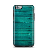 The Bright Emerald Green Wood Planks Apple iPhone 6 Plus Otterbox Symmetry Case Skin Set