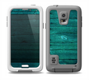 The Bright Emerald Green Wood Planks Skin for the Samsung Galaxy S5 frē LifeProof Case