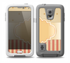 The Bright Glossy Gold Polka & Striped Label Skin Samsung Galaxy S5 frē LifeProof Case