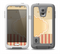 The Bright Glossy Gold Polka & Striped Label Skin for the Samsung Galaxy S5 frē LifeProof Case