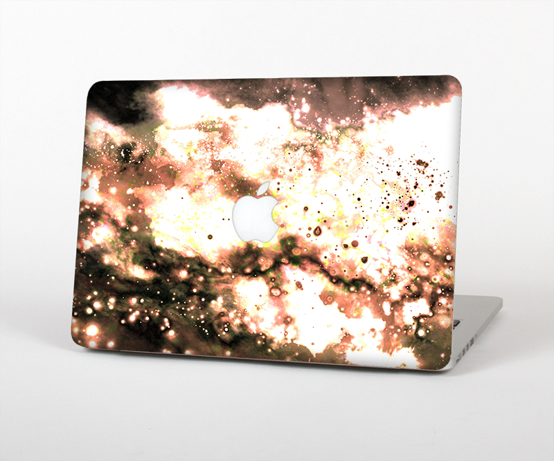 "The Bright Gold Cloudy Lights Skin Set for the Apple MacBook Pro 15"" with Retina Display"
