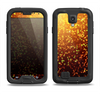 The Bright Gold Glowing Sparks Samsung Galaxy S4 LifeProof Fre Case Skin Set