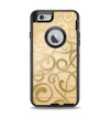 The Bright Gold Spiral Wood Pattern Apple iPhone 6 Otterbox Defender Case Skin Set