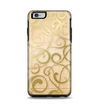 The Bright Gold Spiral Wood Pattern Apple iPhone 6 Plus Otterbox Symmetry Case Skin Set