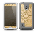 The Bright Gold Spiral Wood Pattern Skin for the Samsung Galaxy S5 frē LifeProof Case