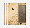 The Bright Gold Spiral Wood Pattern Skin for the Apple iPhone 6 Plus