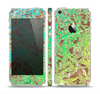 The Bright Green Floral Laced Skin Set for the Apple iPhone 5