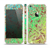 The Bright Green Floral Laced Skin Set for the Apple iPhone 5s