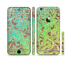 The Bright Green Floral Laced Sectioned Skin Series for the Apple iPhone 6 Plus