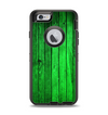 The Bright Green Highlighted Wood Apple iPhone 6 Otterbox Defender Case Skin Set