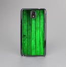 The Bright Green Highlighted Wood Skin-Sert Case for the Samsung Galaxy Note 3