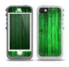 The Bright Green Highlighted Wood Skin for the iPhone 5-5s OtterBox Preserver WaterProof Case