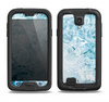 The Bright Light Blue Swirls with Butterflies Samsung Galaxy S4 LifeProof Fre Case Skin Set