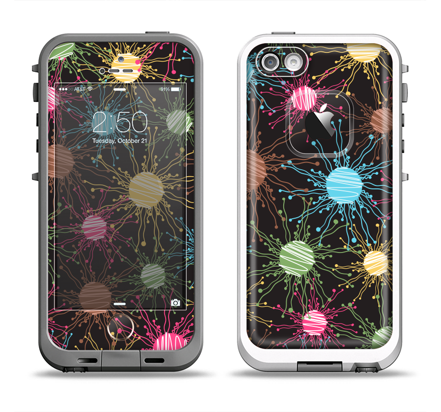438428ebac The Bright Loopy Circle Extract Apple iPhone 5-5s LifeProof Fre Case S -  DesignSkinz