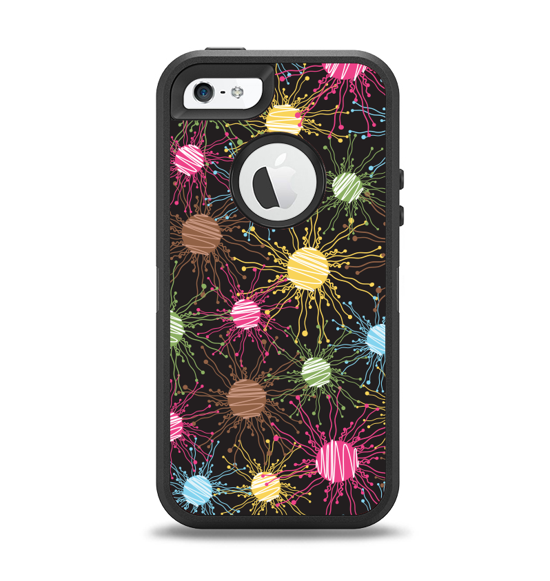 ab28df99a1 The Bright Loopy Circle Extract Apple iPhone 5-5s Otterbox Defender Ca -  DesignSkinz
