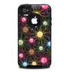 The Bright Loopy Circle Extract Skin for the iPhone 4-4s OtterBox Commuter Case